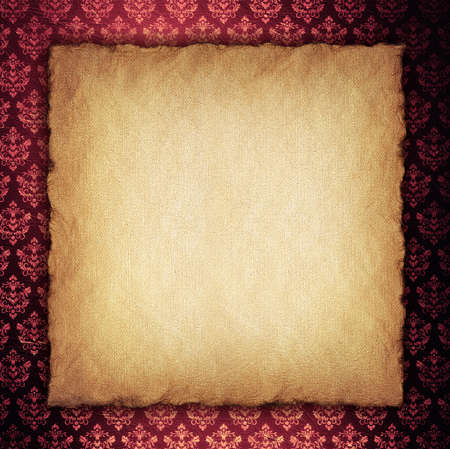 Blank paper sheet on wallpaper background photo
