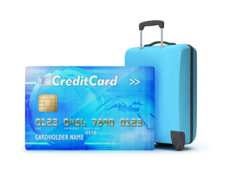 recess: Pay by credit card for holiday - concept illustration Stock Photo