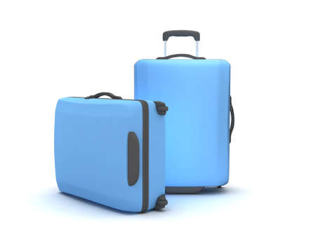 recess: Two suitcases on white background