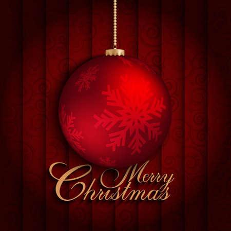 xmass: Christmas card design Illustration