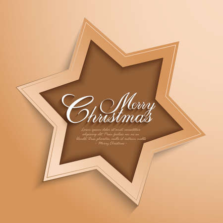 Christmas card design - vector template Vector