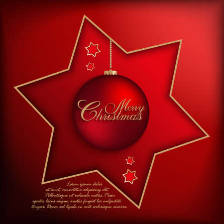 xmass: Christmas background - vector template Illustration