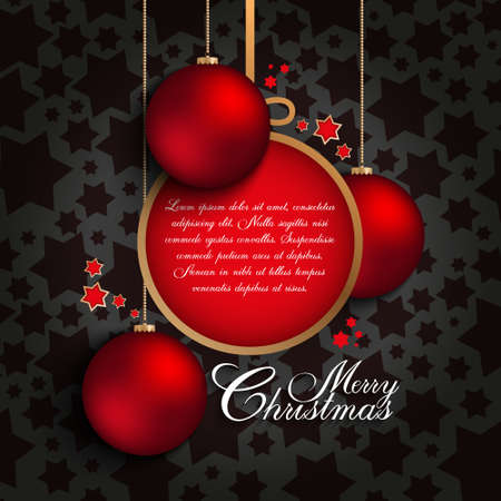 Christmas card vector template Vector