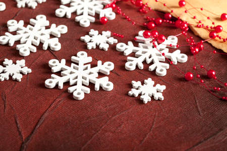 goody: Christmas background - snowflakes and paper sheet