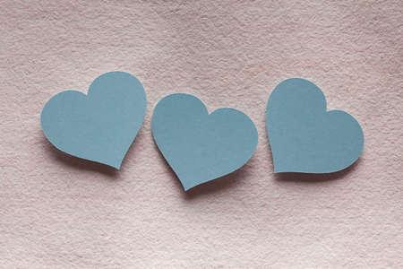corazones azules: corazones azules Foto de archivo