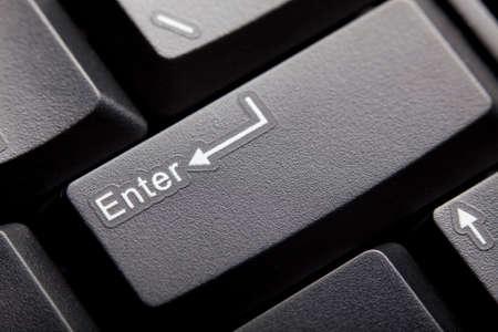 tecla enter: Tecla Enter Foto de archivo