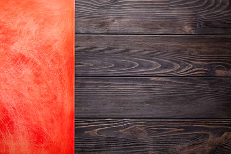 scratches: Two layer background - scratched surface and wooden wall Stock Photo