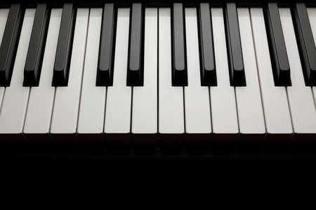 Black and white piano keys Banque d'images