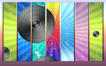Colorful Vinyl Record Backround photo