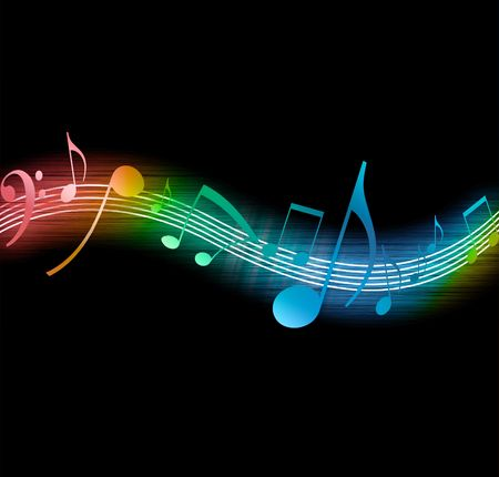 notes de musique: Notes de musique Banque d'images