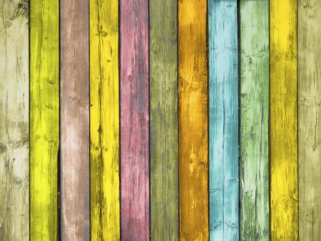 Colored Wood Planks photo
