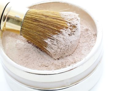 Makeup Powder and Brush photo
