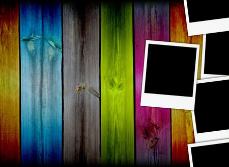 unforgettable: Five Photos on Multicolored Background Stock Photo