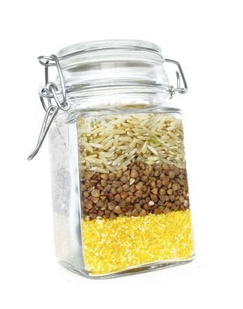 玄米、ソバ、トウモロコシのグリッツ