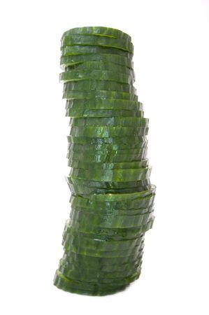 Pile of Cucumber Slices photo