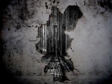pared rota: Agujero en el muro