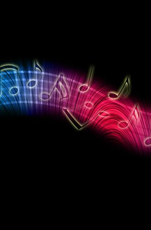 Dancing Music Notes photo
