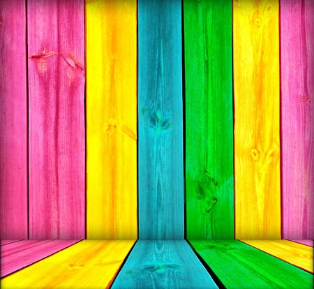 catchy: Vibrant Wood Background Stock Photo