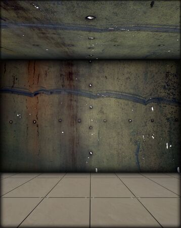 murky: Grungy Room Stock Photo