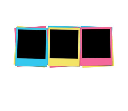 Blank Photos in Birthday Colors photo