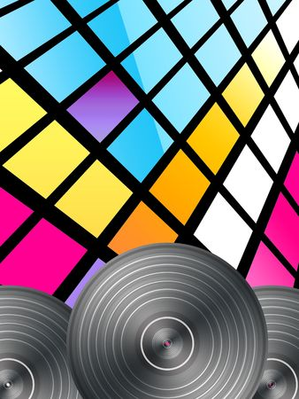 electro: Disco Hintergrund