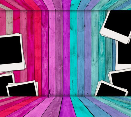 background images: Blank Photos in Pink and Blue Room