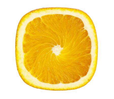 orange slice: Vierkant oranje Slice Stockfoto