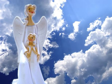 heavenly: Angels in the Sky Stock Photo