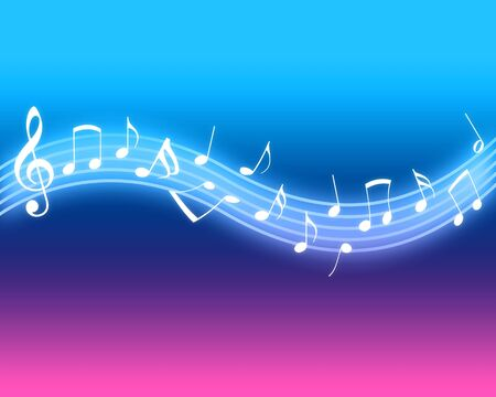 musical notation: Glowing Music Notes Stock Photo