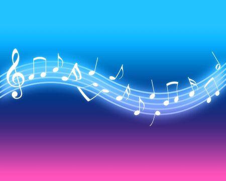 notes musicales: Notes de musique brillantes