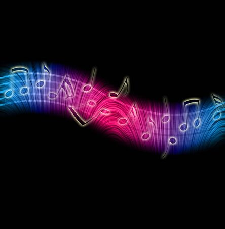 Dancing Music Notes Stock Photo - 6822736