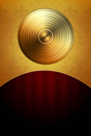 gold record: Music Background