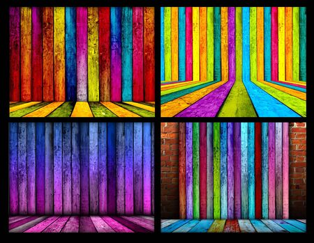 catchy: Set of Colorful Wood Backgrounds