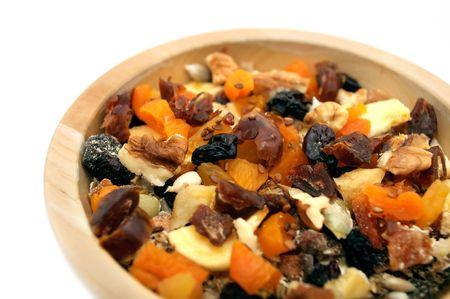 frutos secos: Bol de muesli  Foto de archivo