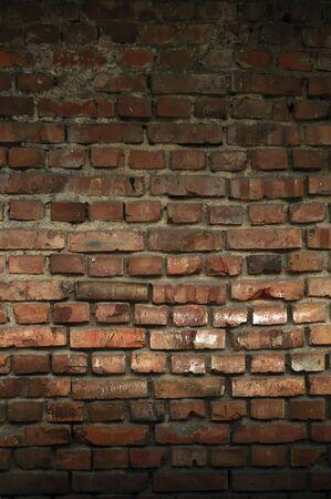 unkept: Dark Brick Wall Stock Photo