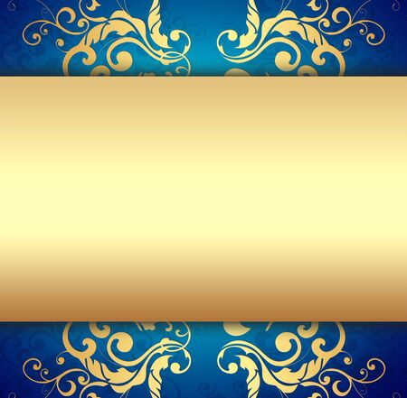 Decorative Golden Background photo