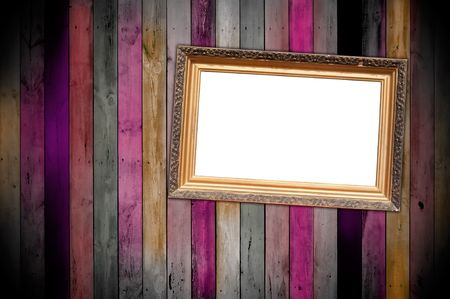 titled: Titled Frame on Wooden Wall Stock Photo