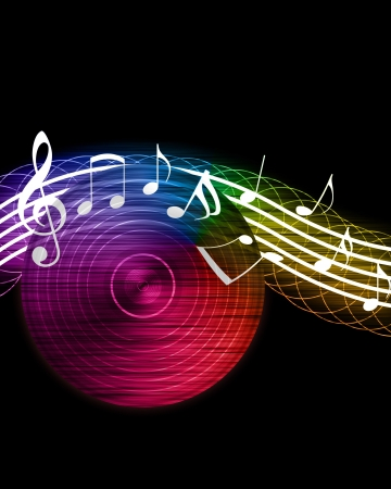 funk: Creative Music Background Stock Photo
