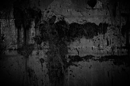 estuco: Muro de hormig�n oscuro  Foto de archivo