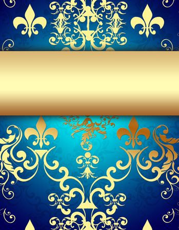 Elegant Golden Blue Background photo