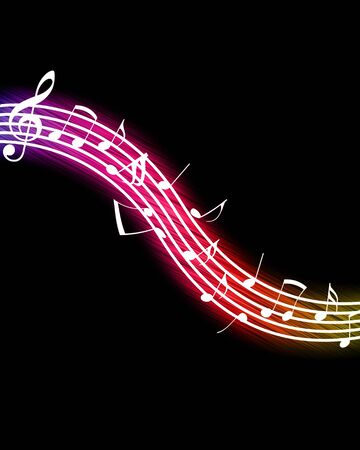 Flowing Music Notes Stock Photo - 6938417