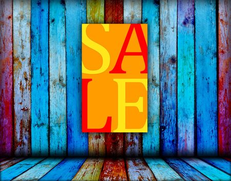 Sale Sign on Wood Background Stock Photo - 6938466