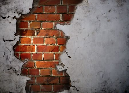 squalid: Hole in the Wall Stock Photo