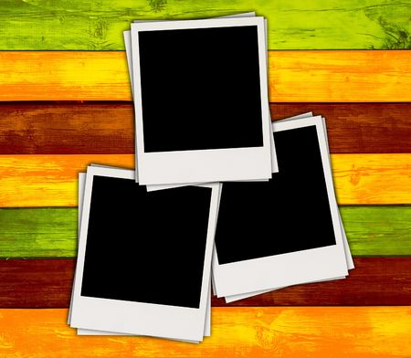 pic  picture: Blank Photos on Colorful Background