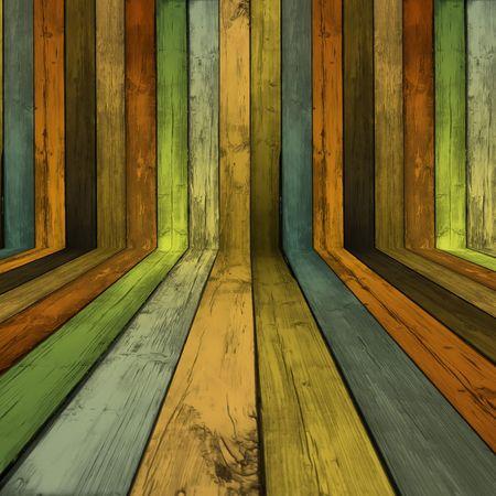 Puste pomieszczenie drewniany  Zdjęcie Seryjne