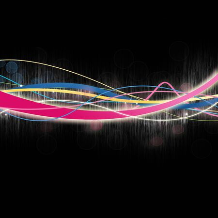 Multicolored Glowing Lines on Black Stock Photo - 7057391