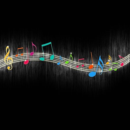 funk: Colorful Music Notes Stock Photo