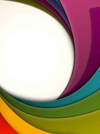 curlicue: Colorful Curls Stock Photo