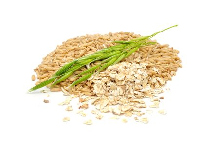 Oat Grains, Oat Flakes And Ear photo