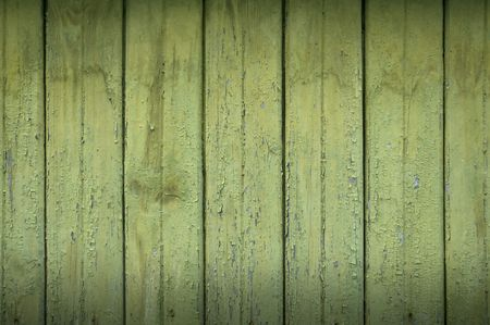 peeling paint: Green Wood Background